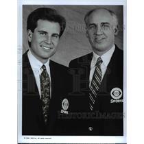1992 Press Photo Jim Nantz &Bill Packer in NCAA Men's Basketball Championship