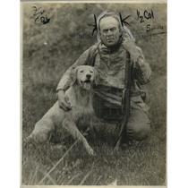 1923 Press Photo Paul Buckley & Dog Spot of Alaska - nef54445