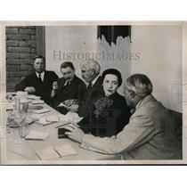 "1937 Press Photo American Commission examines Leon Trotsky's ""treason"""