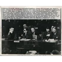 1922 Press Photo UN delegate Jan Papanek of Czech at Security Council
