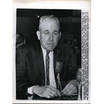1956 Press Photo James Veneable of KKK at House Un American Activities hearing