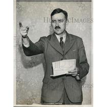 1932 Press Photo US Communist Part chief Earl Browder in Chicago convention