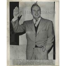 1950 Press Photo Joe Kirkwood Jr Tells About a Row He Had with Johnny Johnston