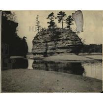 1926 Press Photo The Rock Formation Sugar Love at Wisconsin Dells - mja38966