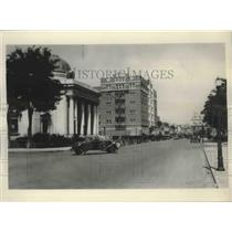 1930 Press Photo Reno's Main Street, showing the Courthouse- Nevada - spx13328