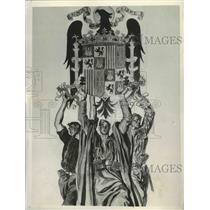 """1939 Press Photo Spanish """"Una Grande y Libre"""" Art - fux00909"""