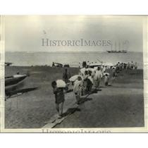 1935 Press Photo Summer Scene at Point Barrow, Alaska - mja49183