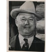 1938 Press Photo Joseph King, Tourist Camp Operator of houston, Texas