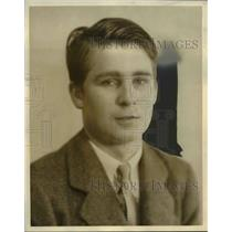1934 Press Photo Robert Parsons, Freshman at Western Reserve Academy