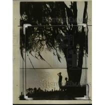 1926 Press Photo Setting Sun on Ogeechee River Savannah Georgia - nef40790