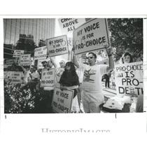 1989 Press Photo Abortion Rights Supporters Tampa