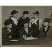 1935 Press Photo American Birth Control League Officers Meeting in Chicago