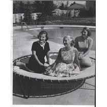 1957 Press Photo Plan Yellow Rose Ball August Stepping