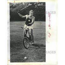 1971 Press Photo Polo Cycling