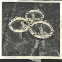 1960 Press Photo Suburban Water ballet Glenbrook High