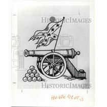 1990 Press Photo A drawing of cannon - cva21537
