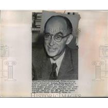 1954 Press Photo Nobel Prize Winning Atomic Scientist Enrico Fermi of Italy