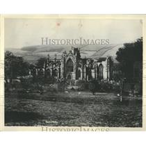 1929 Press Photo Ruins of Melrose Abbey
