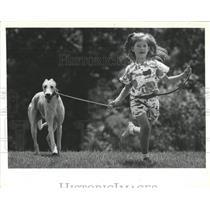 1989 Press Photo Katy Young & Kow Kow