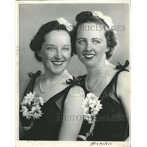 1937 Press Photo Misses Eva Sydney Ann Elizabeth Honor