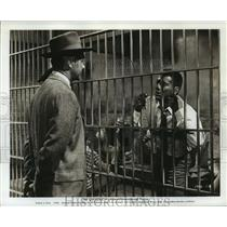 """1961 Press Photo Actor Tony Curtis, George Lymbrum in """"The Outsider"""" Movie"""