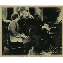 "1927 Press Photo Eugenie Besserer, Al Jolson in ""The Jazz Singer"" - lfx03977"
