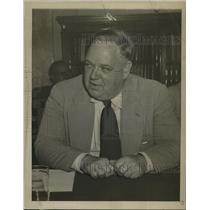1952 Press Photo Whittaker Chambers at Senate Security Spy Hearing, Washington