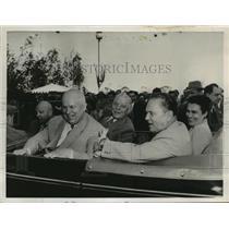 1956 Press Photo President Tito of Yugoslavia & Wife, Nikita Khrushchev @ Moscow