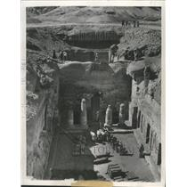 1950 Press Photo View of the tomb of high priest Mentemhet - mjx23357