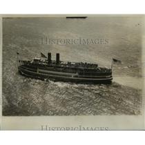 "1934 Press Photo Steamship ""City of Keansburg"" on Hudson River - lfx02004"