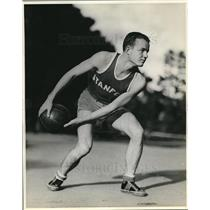 1933 Press Photo Payne Palmer, Stanford University forward - nes05686