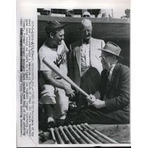 1959 Press Photo L.A. Dodgers' Don Zimmer, Burt Shotton, Dazzy Vance - nes05721