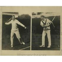 1926 Press Photo Vincent Richards and Jean Borotra at the West Side Tennis Club