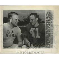 1950 Press Photo Glenn Davis West Point Football and Hampton Pool of L.A Rams