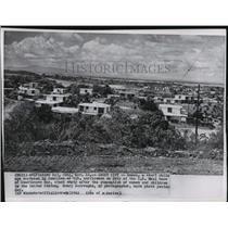 1962 Press Photo Guantanamo Bay, Cuba Naval Base after Evacuation - ftx00053