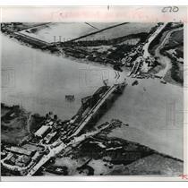1968 Press Photo Mekong Delta Bridge Destroyed by Viet-Cong in Saigon, Vietnam