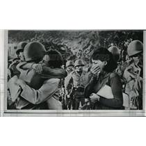 1965 Press Photo Brazilian Women Say Goodbyes to Troops, Rio de Janeiro
