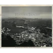 1964 Press Photo Rio de Janeiro, Brazil Aerial View - ftx00262