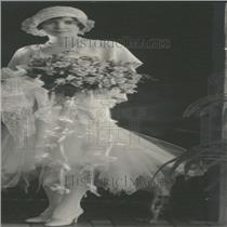 1929 Press Photo Mrs. Curtis Freiberger's Wedding