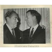 1959 Press Photo Roy Hamey Asst.Generan Manager of N.Y Yankees and John Quinn