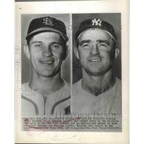 1951 Press Photo Billy Johnson, Third Baseman and Don Bollwe,First Baseman