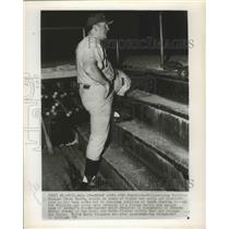 1954 Press Photo Terry Moore, Manager of the Philadelphia Phillies Manager