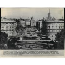 1945 Press Photo Schwarzenberg Square, Vienna, Austria Pre-World War II