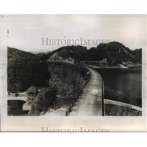 1947 Press Photo Jelenia Gora, Lower Silesia, Poland Electric Dam - ftx00529