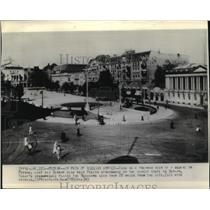 1945 Press Photo Poznan Square, Poland Pre-World War II - ftx00532