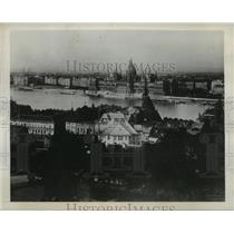1939 Press Photo Hungarian Town Aerial View - ftx00579