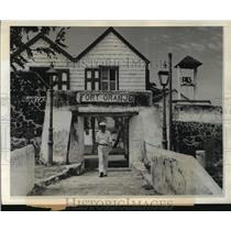 1942 Press Photo Fort Oranje Entrance, Oranjestad, Netherlands Island