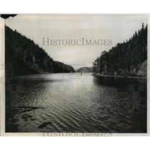 1953 Press Photo Maude Lake, Schreiber District, Ontario, Canada - ftx00626
