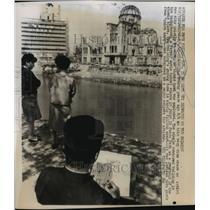 1965 Press Photo Hiroshima, Japan Bombing Site - ftx00892