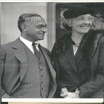 1933 Press Photo Professor Frankfurter & his wife